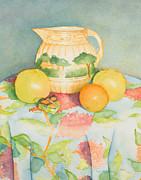 Antique Pitcher Posters - Still Life with Pitcher Poster by Sandra Neumann Wilderman