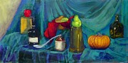 Red Paintings - Still Life with Pumpkin by Sharon Mason