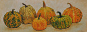 Pumpkins Paintings - Still Life With Pumpkins by Iliyan Bozhanov