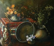Couple Paintings - Still-life with snowdrops by Tigran Ghulyan