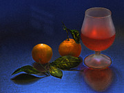 Tangerines Photos - Still Life with Tangerins by Vladimir Kholostykh