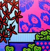 Lichtenstein Prints Posters - Still Life With The Beatles Poster by John  Nolan