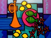 Jazz Stars Art - Still Life With Trumpet by John  Nolan