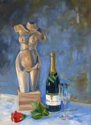 Champagne Originals - Still Life with Unopened Champagne by RB McGrath