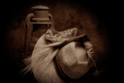 Sepia Art - Still Life with Wheat II by Tom Mc Nemar