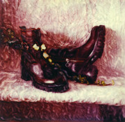 Still Life Photographs Mixed Media Prints - Still Life with Winter Shoes - 1 Print by Renata Ratajczyk