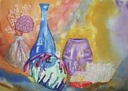 Candle Painting Originals - Still Life with Witching Ball by Ellen Levinson