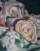 Fabric Originals - Still Life with Yellow  Rose by Aleksandra Buha