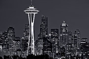 Space Needle Framed Prints - Still of the Night Framed Print by Dan Mihai