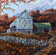 Quebec Paintings - Still Standing 02 by Prankearts by Richard T Pranke