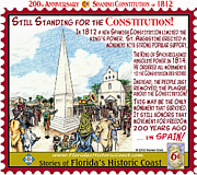 St. Augustine Mixed Media Posters - Still Standing for the Constitution Poster by Warren Clark