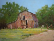 Old Barn Pastels - Still Standing by Paula Ann Ford