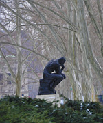 Rodin Prints - Still Thinking Print by Bill Cannon