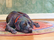 Soulful Eyes Paintings - Still Waiting by Cris Weatherby
