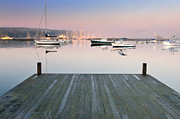 Sail Boats Posters - Still Waters - Southwest Harbor Maine Poster by Thomas Schoeller