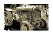 Tractor Mixed Media Framed Prints - Still Working Framed Print by Bob Salo