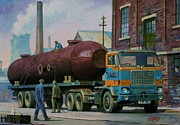 1960s Paintings - Stillers Volvo F88 by Mike  Jeffries