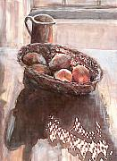 Stillife Mixed Media - Stillife with Onions by Linda Crockett