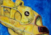Baseball Glove Paintings - Stillmans Nylon Glove by Jame Hayes