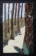 Art Quilts Tapestries - Textiles Tapestries - Textiles Posters - Stillness Poster by Patty Caldwell
