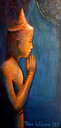 Angkor Paintings - Stillness by Tania Williams