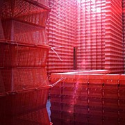 Stimulus Package..#red #crates Print by A Rey