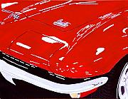 Corvette Paintings - Sting Ray by Richard Roselli