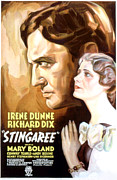 1930s Poster Art Posters - Stingaree, Richard Dix, Irene Dunne Poster by Everett