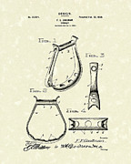 Antique Drawings - Stirrup Design 1900 Patent Art by Prior Art Design