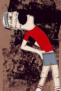 Athlete Mixed Media - Stitch in your Side by Jim Howard