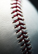 Baseball Photographs Posters - Stitches II Poster by John Rizzuto
