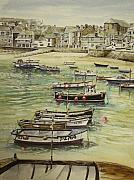 St.ives Harbour Cornwall Print by Keran Sunaski Gilmore