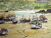 St.ives Harbour Low Tide Cornwall Print by Keran Sunaski Gilmore