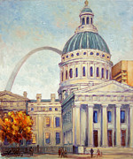 Louis Paintings - St.Louis Old Courthouse by Irek Szelag