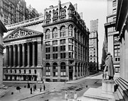 Wall Street Framed Prints - STOCK EXCHANGE, c1908 Framed Print by Granger