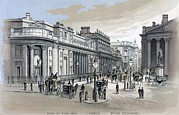 Exchanges Prints - Stock Exchange In London, Uk, 1886 Print by Everett