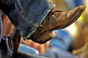 Foot Wear Prints - Stock Show Boots I Print by Joan Carroll