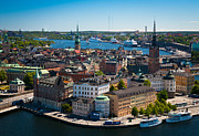 Scandinavian Prints - Stockholm from Above Print by Inge Johnsson