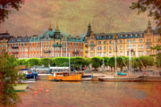 Skylines Photo Framed Prints - Stockholm Sweden Framed Print by Mark Richards