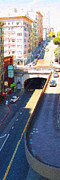 Taxi Digital Art - Stockton Street Tunnel in Heavy Shadow . Long Version by Wingsdomain Art and Photography