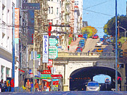 Stockton Street Posters - Stockton Street Tunnel in San Francisco . 7D7355 Poster by Wingsdomain Art and Photography