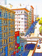 Stockton Street Posters - Stockton Street Tunnel in San Francisco . 7D7502 Poster by Wingsdomain Art and Photography