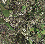 Trent Framed Prints - Stoke-on-trent, Uk, Aerial Image Framed Print by Getmapping Plc