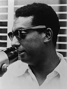 Racism Framed Prints - Stokely Carmichael 1941-1998 Framed Print by Everett