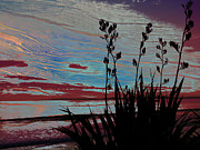 Flax Digital Art Prints - Stolen Sunset Print by Karen Lewis