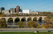 Earth Tone Photo Framed Prints - Stone Arch Bridge Five Framed Print by Josh Whalen
