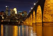 Stone Bridge Framed Prints - Stone Arch Bridge Framed Print by Tammy Wolfe