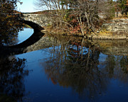 Blackstone River Prints - Stone Bridge Print by Barry Doherty
