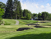 Golf Hole Posters - Stone Bridge Fairway Poster by Peter Chilelli