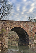 Bull Creek Prints - Stone Bridge Spanning Bull Run aka Occoquan River - Manassas Battlefield - Virginia Print by Brendan Reals